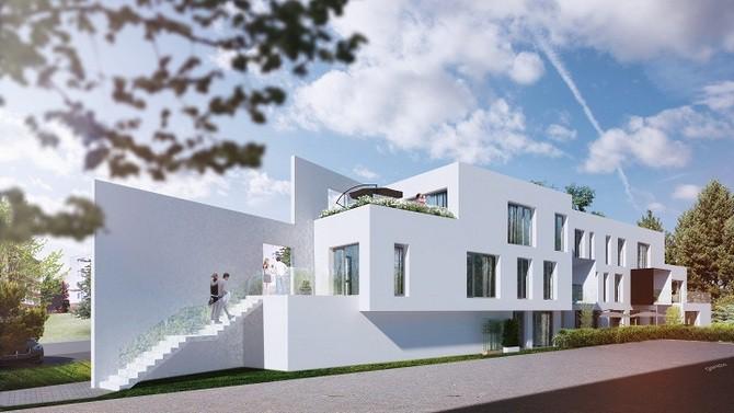 Bytový dům Barvy, inspirovaný funkcionalismem