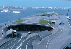 Ikonický komplex terminálu jokohamského přístavu