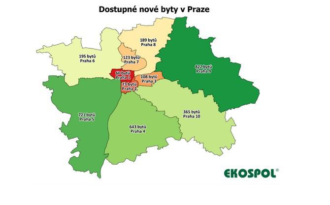 Nejméně bytů, celkem 60, evidují ceníky developerů v Praze 1
