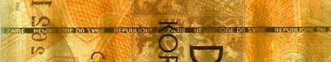 Dvoustovka Zairovka chybný proužek Republique du Zaire 1