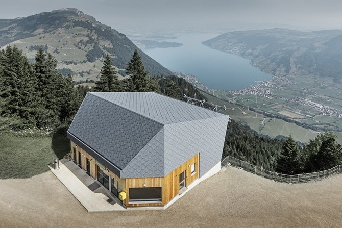 Nová stanice lanové dráhy ve Švýcarsku