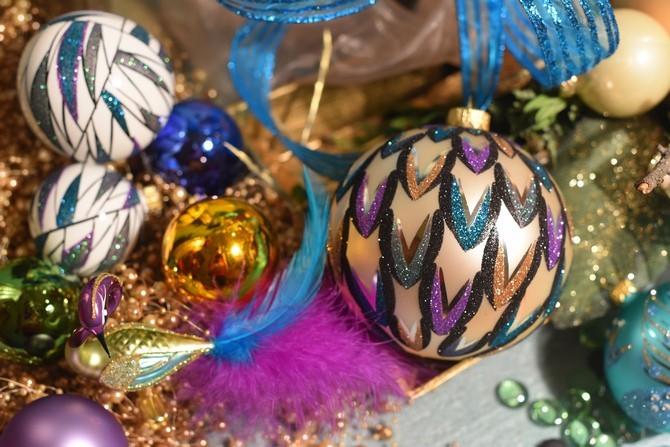 Vánoční výzdoby s větší barevností a retro nádechem