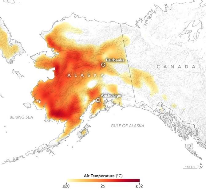 Pocasi Ve Svete Aljaska V Chladnem Americkem State Padaly