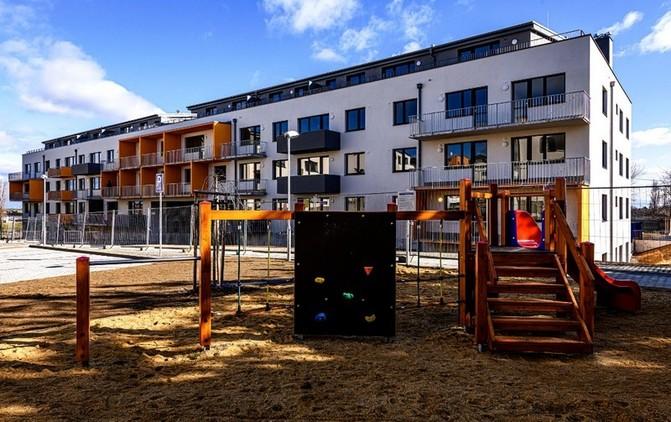 Součástí rezidencejsou rovněž tři dětská hřiště