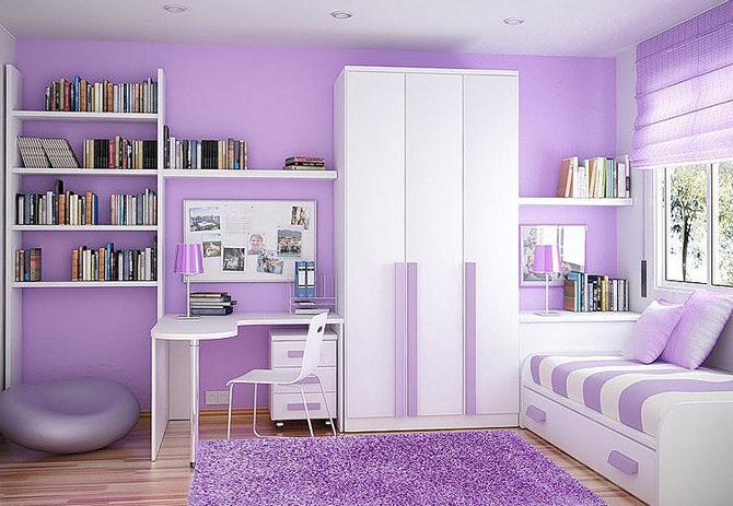 Fialová barva je inspirativní