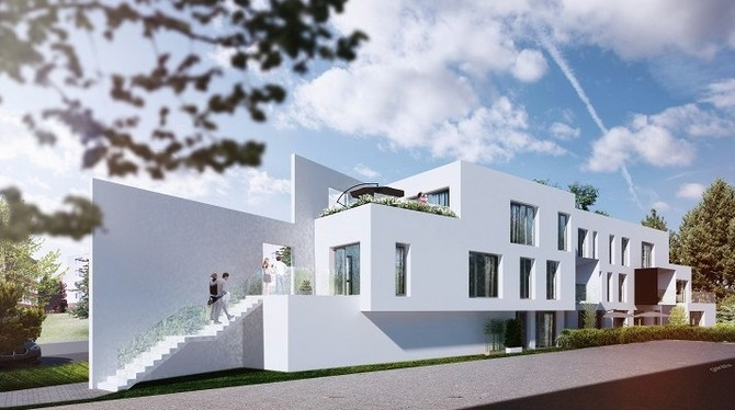 Stavba patří k projektům prémiového bydlení
