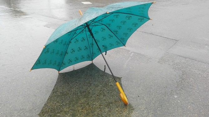 zima, déšť