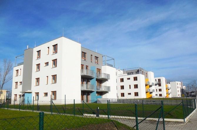 Bytové domy svým charakterem navazují na vilovou zástavbu starého Zličína