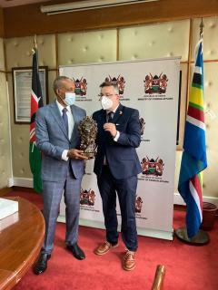 With Principal Secretary Macharia Kamau
