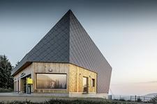 Soudobá architektura ve Švýcarsku: stanice lanové dráhy v Goldau