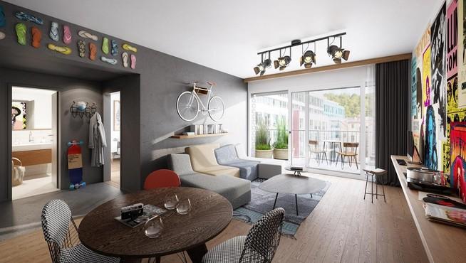 Dva Domy nabízí moderní bydlení v centru Prahy